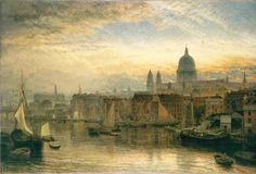 Henry Dawson, St. Paul's from the River Thames, 1877.
