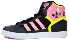 half off d8982 5aa6a Top Vente Homme Adidas EXTABALL B Casual chaussures High Tops - Noir -Rose-Jaune