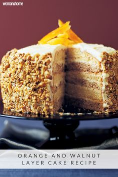 Walnut Cake, Dessert Cake Recipes, Desserts, Orange Bundt Cake, Cupcake Cakes, Cupcakes, Almond Butter, Yummy Cakes, Kitchens