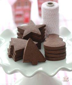 Chocolate Sugar Cookies via Sweetopia