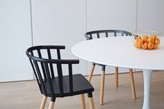 Kaptain chair by Kvell. A fresh, modern take on the traditional captain chair, Kaptain is a versatile piece suited to both living and dining spaces. Durable and easy to maintain, Kaptain will see you through the years. Dining Room, Dining Table, Diy Furniture, Minimalism, Restoration, Wooden Chairs, Traditional, Modern, Fresh