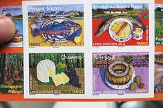 French food postage stamps