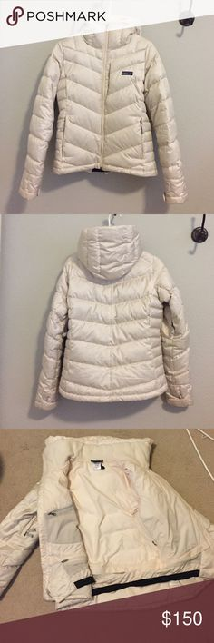 Patagonia puffer jacket - ski or snowboard Puffer jacket with many ski features - removable powder skirt, interior pocket, three exterior pockets, headphone/iPhone compatible pocket, underarm vents, fleece lining at neck, helmet compatible hood. Patagonia Jackets & Coats Puffers