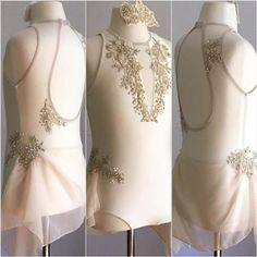 Cream or Off-white Contemporary or Lyrical Dance Costume