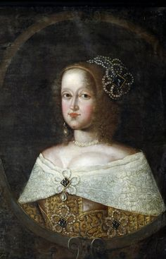 A portrait of Sophie Amalie of Brunswick-Lüneburg, Queen of Denmark and Norway as the wife of Frederick III. She was born on this day, March 24th, in 1628.