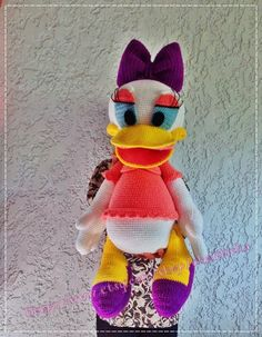 Daisy Duck 30 inches - PDF amigurumi crochet pattern