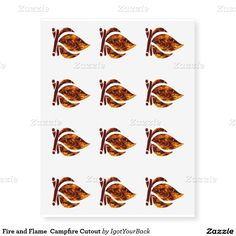 #Fire and #Flame #Campfire Cutout Temporary Tattoos by #IgotYourBack #gravityx9 #zazzle -