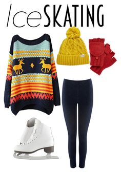 """""""Ice Skating"""" by sarah-renea22 ❤ liked on Polyvore featuring Chicnova Fashion, M&Co, Nirvanna Designs and Rella"""