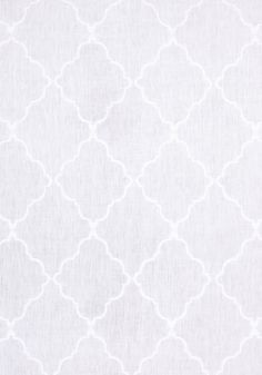 TUNISIA TRELLIS EMBROIDER, White, AF26137, Collection Symphony from Anna French