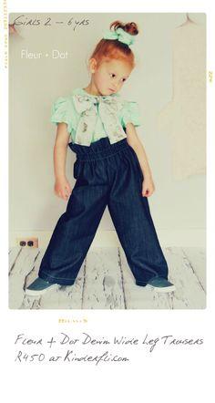 Fleur + Dot Wide Leg Trousers for Girls at Kinderfli.com Trousers For Girls, Wide Leg Trousers, Harem Pants, Kids Fashion, Legs, Children, Young Children, Harem Trousers, Boys