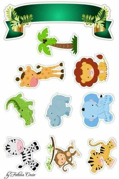 Set of 6 Safari Animals Foam Decorations for a Baby Shower 3 different sizes great jungle themed centerpieces Safari Party, Safari Jungle, Jungle Party, Safari Theme, Jungle Theme, Safari Animals, Safari Cakes, Baby Shower, Baby Scrapbook