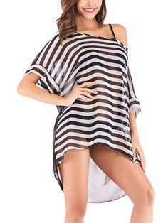 6827000ea0f4e LELINTA Women Swimwear Lounge Dress Bikini Tops Cover ups Lady Swimsuit  Chiffon Beach Shirt Dress Bathing