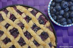 Clean Eating Blueberry Pie, the perfect pie for spring and summer.