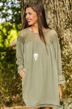 Stop This Train Dress-Olive - New Today | The Red Dress Boutique