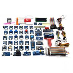 Adeept DIY Electric Ultimate 46 in Sensor Modules Kit for Raspberry Pi 3 2 B/B+ with Guidebook FreeShipping Book diykit Rasberry Pi, Raspberry, Electronics Projects, Consumer Electronics, Arduino Gps, Thing 1, Pcb Board, Diy Store, Developmental Toys