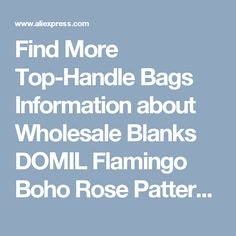 Find More Top-Handle Bags Information about Wholesale Blanks DOMIL Flamingo Boho Rose Pattern Lilly Easter Buckets Easter Tote Bag Polyester Material Easter Bag DOM103432,High Quality material jewelry,China material handling equipment china Suppliers, Cheap material cutter from BLANKSMALL on Aliexpress.com