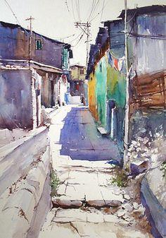 Kumbhar Wada Lane Painting by Vilas Kulkarni