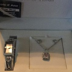 ❣NIB SUPER❣CoteD'Azur Heart Watch, NLACE Heart Watch matching set Côte d'Azur 😍excellent condition works great never been worn this is a very good watch, needed a battery I had one put in, jeweler said excellent watch💝💞🎀original box Cote D'Azur Jewelry Necklaces