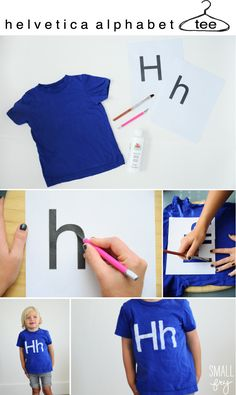 DIY helvetica alphabet tee (just like the american apparel one!)
