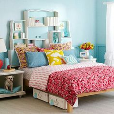 A headboard made from drawers!