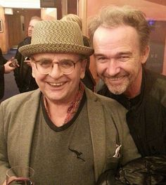 @4SylvesterMcCoy Sylvester and @owenpaulreal at the Piccadilly screening of #LaurelAndHardy on Tuesday