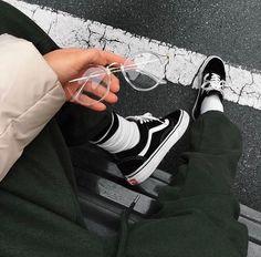 SAISEI: #vans #vans sk8 hi #fashion #bomber jacket #joggers