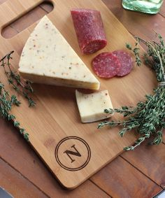 A personalized cutting board: perfect gift for the culinary adventurer in your life.