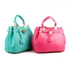 Aqua Pink Lock Bags Totes Shoulder Women Purses Designer Celebrity Korean  Fashion 81714d11792c1