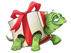 Your big tortoise is a source of pleasure to you. You bought the turtle so you can have more fun with family members and friends. Cute Animal Drawings, Cartoon Drawings, Cute Drawings, Cute Turtle Drawings, Cute Turtle Cartoon, Christmas Drawing, Christmas Paintings, Cartoon Christmas Presents, Tortoise Drawing