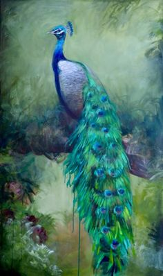 Light of Eden by Gena Brodie Robbins Peacock Wall Art, Peacock Decor, Watercolor Peacock, Peacock Painting, Art Deco Paintings, Peafowl, Whimsical Art, Bird Art, Pretty Pictures