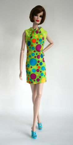 Short Mod Dress for Barbie by Chic Barbie Designs on Etsy