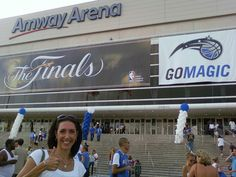 The old Amway Arena hosting the 2009 NBA Finals.