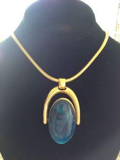 "Trifari Vintage Necklace Reversible Pendant 22""Long Pendant 2 1 2"" | eBay Sold for $ 78"