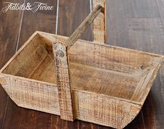 TidbitsTwine Wooden Handled Basket 10 Ways to Use 1 Basket Tray Decor, Barn Wood, Twine, Repurposed, Baskets, Good Things, September 2013, Wood Ideas, Decorating