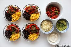 Beef Fajita Bowls Super easy and totally delicious meal prep recipe for you today! Beef fajita bowls with black beans , corn , tomato ...