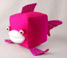 Felt cube fish