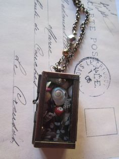 Newest product!  Shadow Box Memory Necklace by CharmsCityCompany on Etsy, $46.00