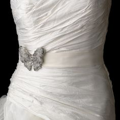 Butterfly Theme Wedding Dress Belt---with my butterfly obsession..this may have to happen