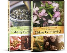 Making Herbs Simple Volumes 1 & 2: Discover a practical family life skill in these fun, hands-on DVDs about using herbs! Learn how to identify herbs and what they are good for, and how to make simple remedies, teas, salads, and syrups from herbs.     Presented with a fun, engaging style, this film features long-time herb users Shoshanna Easling, Debi Pearl, and Kristen Leonard. Best yet, most of these aren't exotic herbs — many of them might be growing in your own backyard!