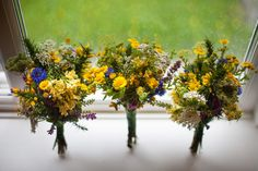 You know how so many brides say they want their bouquet to look like it was just picked from the meadow?! These really were...heather and gorse picked the day before the wedding from the Pembrokeshire coastal paths the bride and groom love to walk.