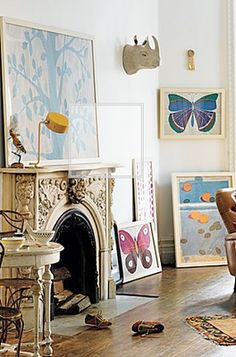 butterflies: French textile artist Paule Marrot for anthropologie