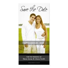 Shop Photo Card: Save the Date - Minimalistic created by MarshEnterprises. Simple Wedding Cards, Simple Wedding Invitations, Wedding Rsvp, Simple Weddings, Save The Date Photos, Save The Date Cards, Photo Cards, Wedding Colors, Minimalist