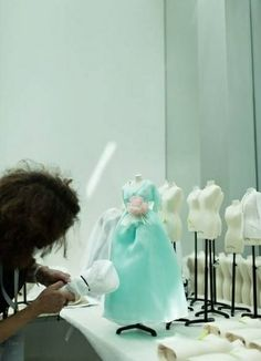 blue - Dior at Harrods - Le Petite Theatre, Have little girls make mini dress at party!