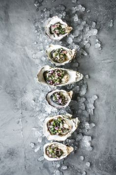 Oysters with Serrano and Lime Mignonette