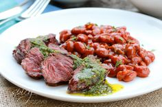 hanger-steak with cilantro mint chimichurri