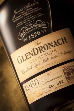 1968 Recherche Glendronach Single Malt Whisky available from Whisky Please.