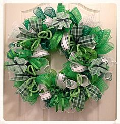 St Patrick's Day Deco Mesh Wreath/ St by CKDazzlingDesign on Etsy