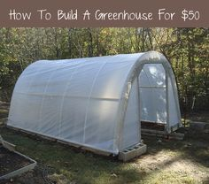 Over at The Door Garden, they explain how to build your own greenhouse for $50. Their greenhouse, shown above, is 11 feet wide by 15 feet long, and it's about 7.5 feet tall in the center. You can build a greenhouse identical in size to this one, or you easily can modify the dimensions to make …