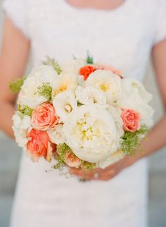 peach, yellow and white with pops of orange @Kristen Seefried maybe something like this?