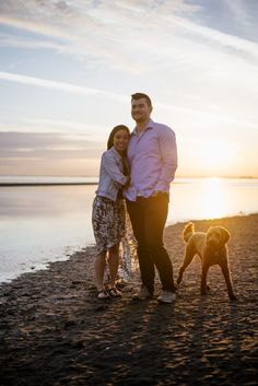 :) We were thrilled when Vivian and Michael told us that they would like to have engagement photo session on the… Beach Engagement, Engagement Photos, Vancouver Beach, Little Dogs, New Friends, West Coast, Photo Sessions, Couple Photos, Photography